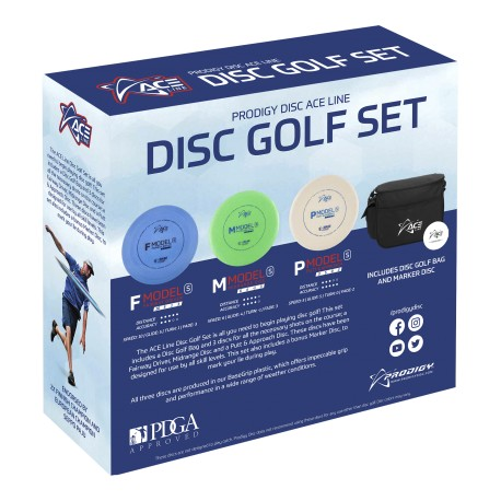 Prodigy ACE LINE DISC GOLF SET with BAG